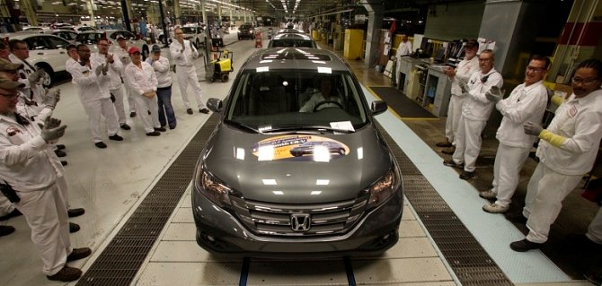 East Liberty Plant Produces its 1,000,000th CR-V