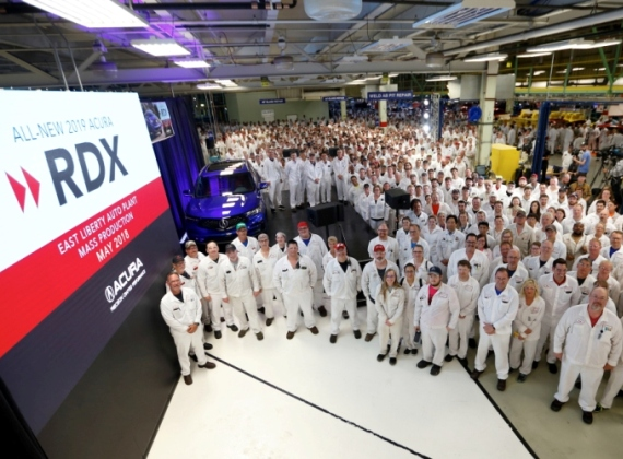 Production of All-New 2019 Acura RDX Begins at East Liberty Auto Plant
