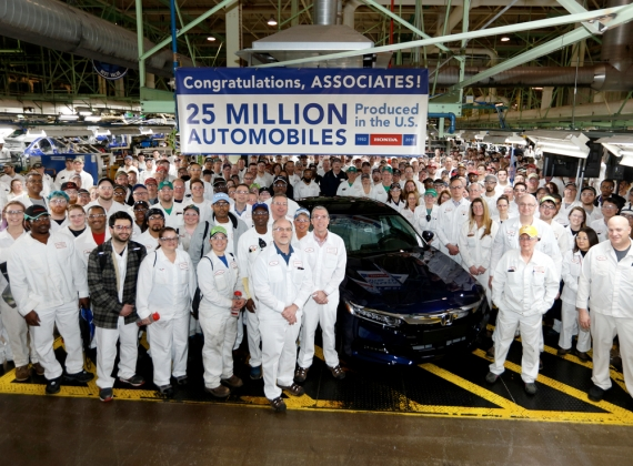Honda Builds its 25 Millionth Automobile in the U.S.