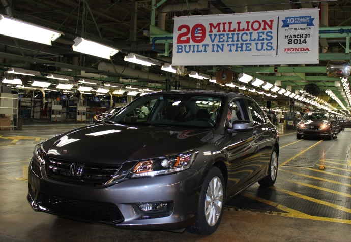 10 Millionth US Made Honda Accord Manufactured In Marysville Ohio