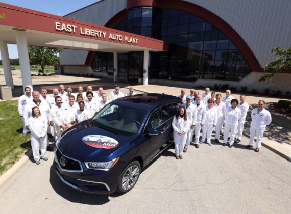 Production Of The Acura MDX Luxury SUV Was Bolstered On May 31, 2017 When  The East Liberty Auto Plant (ELP) In Ohio Began Producing The Award Winning  Acura ...