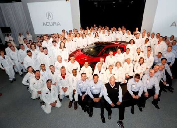 First Serial Production 2017 Acura NSX Rolls off the Line at Performance Manufacturing Center