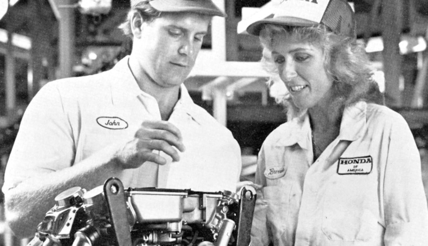 1985 - Production of the Gold Wing Begins