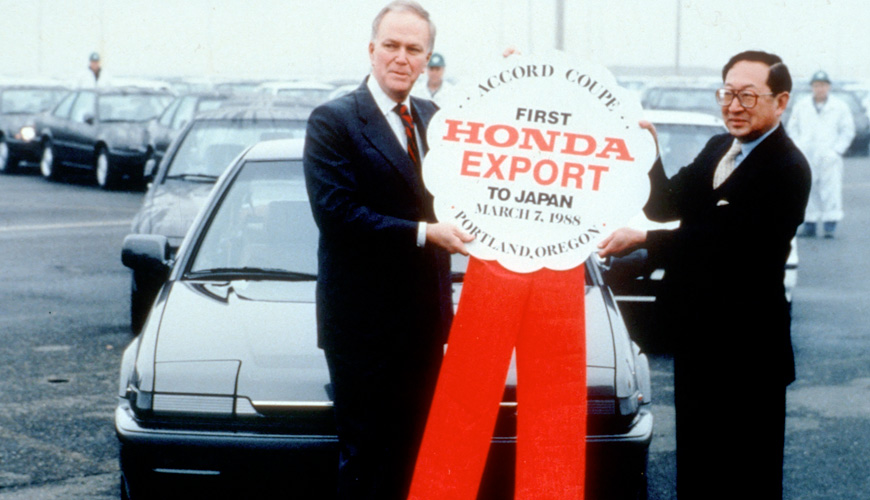 1988 - First Accord Coupe for Export
