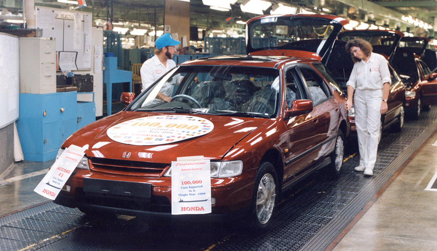 1994 - 100,000th Car for Export