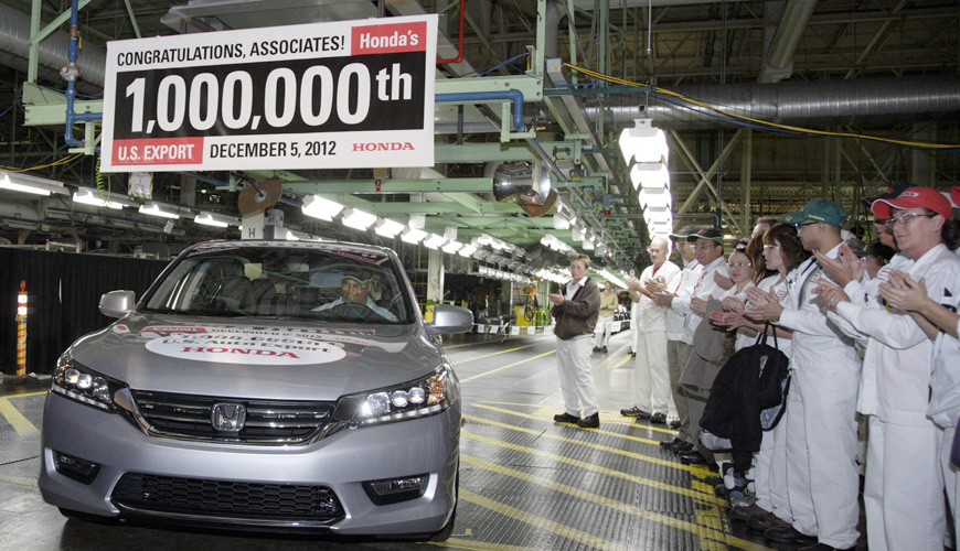 2012 - One Millionth Auto for Export